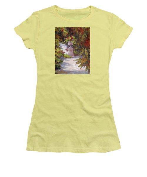 Tropical Garden Women's T-Shirt (Junior Cut) by Vivien Rhyan