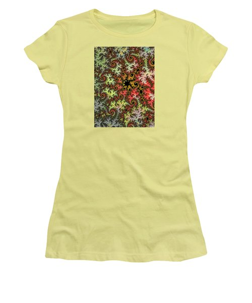 Tropical Storm Embroidered Women's T-Shirt (Junior Cut) by Ronda Broatch