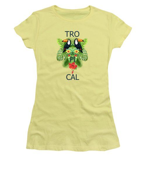 Tropical Summer  Women's T-Shirt (Athletic Fit)