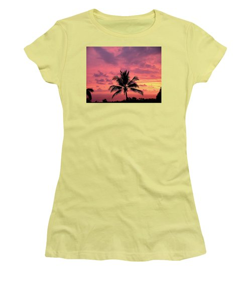 Tropical Sunset Women's T-Shirt (Junior Cut) by Karen Nicholson