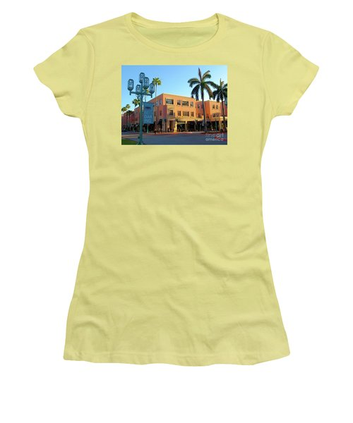 Truluck's Restaurant In Beautiful Mizner Park. Boca Raton, Fl. Women's T-Shirt (Athletic Fit)