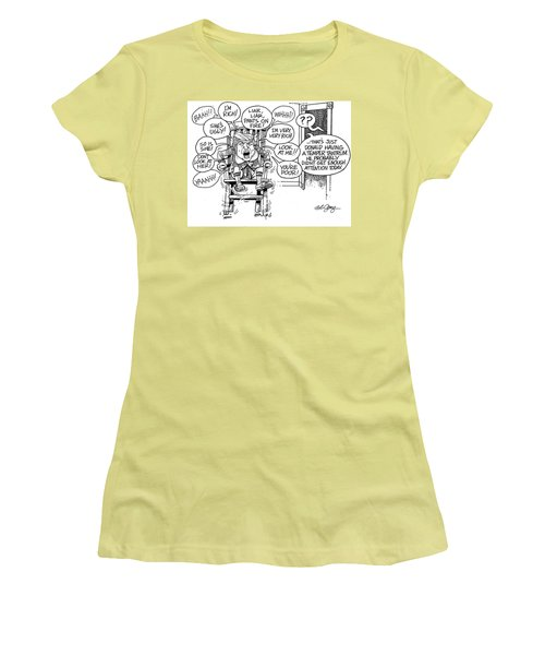 Women's T-Shirt (Junior Cut) featuring the drawing Trumptempertantrum by Bob George