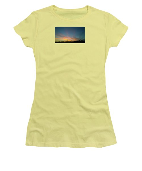Women's T-Shirt (Athletic Fit) featuring the photograph Tuesday Sunrise by Anne Kotan