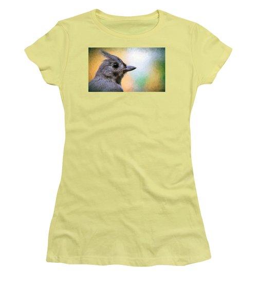Tufted Titmouse Women's T-Shirt (Junior Cut) by Diane Giurco