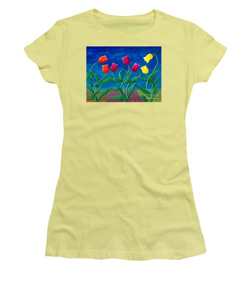 Tulip Tango Women's T-Shirt (Athletic Fit)