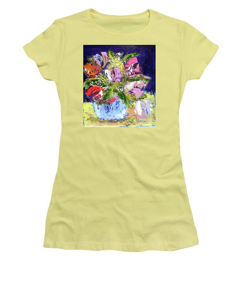 Tulips And Gypsophila Women's T-Shirt (Junior Cut) by Lynda Cookson
