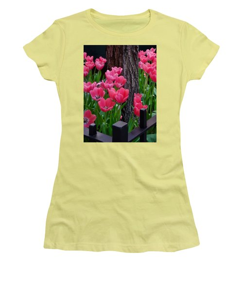 Tulips And Tree Women's T-Shirt (Athletic Fit)