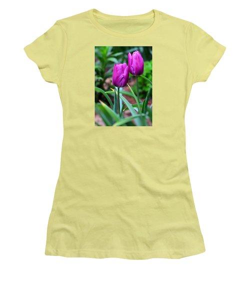 Tulips Women's T-Shirt (Junior Cut) by Kathy Eickenberg