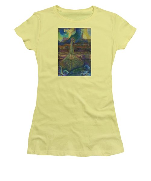 Turbulence Women's T-Shirt (Junior Cut) by Cynthia Lagoudakis
