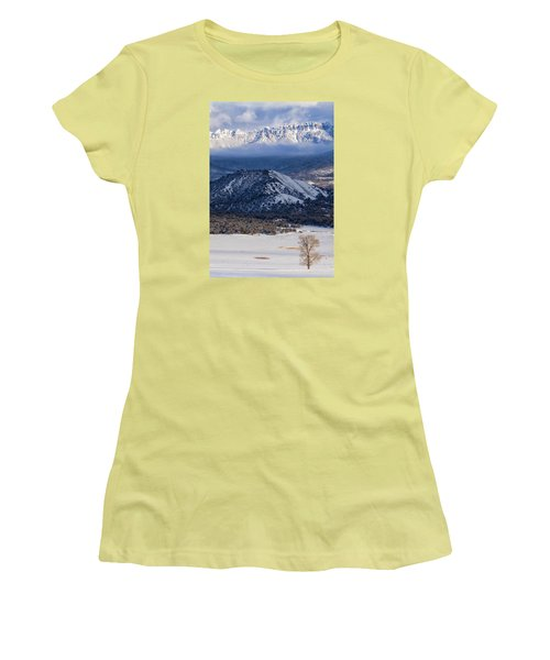 Turret Ridge In Winter Women's T-Shirt (Athletic Fit)