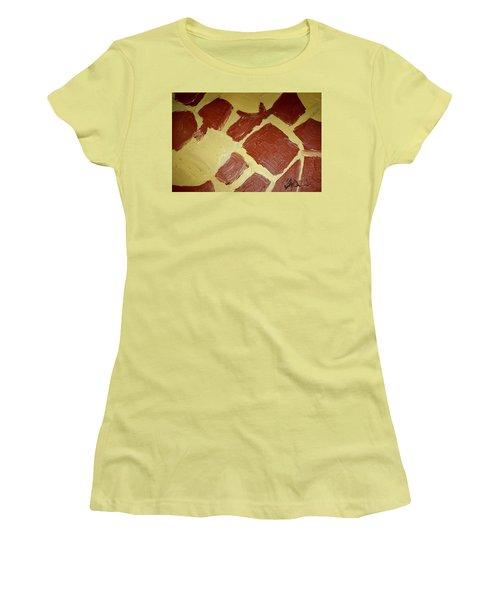 Women's T-Shirt (Junior Cut) featuring the painting Turtle Lamp by Shea Holliman
