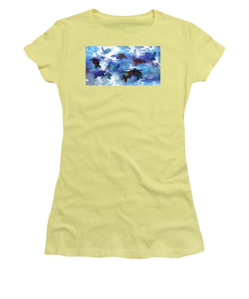 Turtles In Heaven Women's T-Shirt (Athletic Fit)