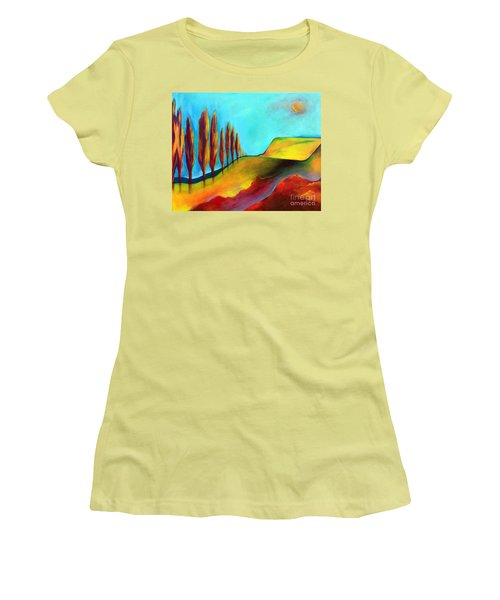 Tuscan Sentinels Women's T-Shirt (Junior Cut) by Elizabeth Fontaine-Barr