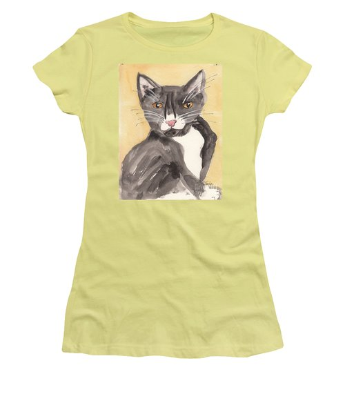 Tuxedo Cat With Attitude Women's T-Shirt (Athletic Fit)