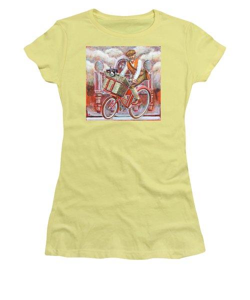 Tweed Runner On Red Pashley Women's T-Shirt (Junior Cut) by Mark Jones