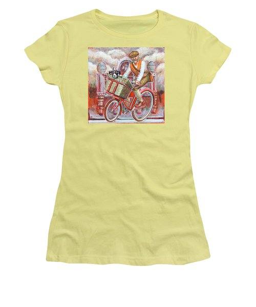 Tweed Runner On Red Pashley Women's T-Shirt (Junior Cut)