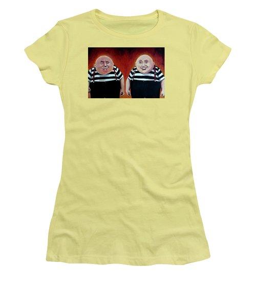 Twiddledee And Twiddledumb Women's T-Shirt (Junior Cut) by Tom Carlton