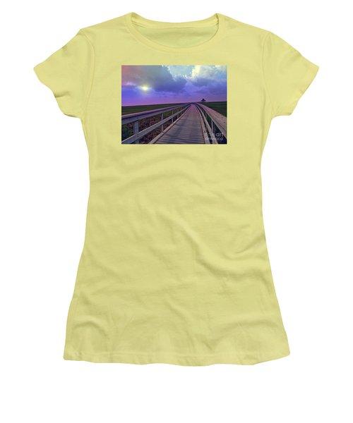 Twilight Nature Walk Women's T-Shirt (Junior Cut) by Ella Kaye Dickey