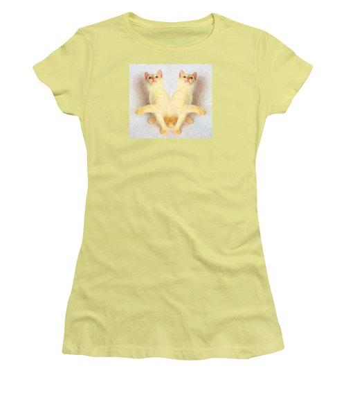 Twin Cats Women's T-Shirt (Junior Cut) by Andre Faubert