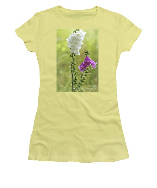Twin Foxgloves Women's T-Shirt (Athletic Fit)