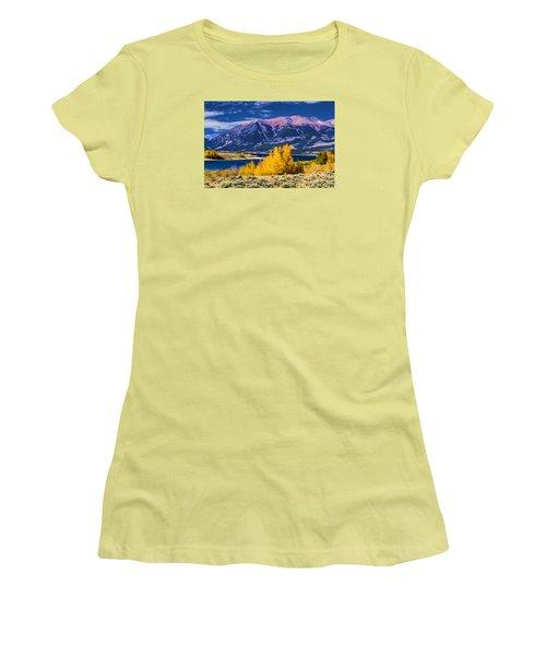 Twin Lakes Women's T-Shirt (Junior Cut) by Steven Parker
