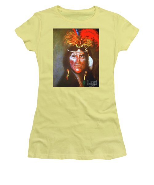 Women's T-Shirt (Junior Cut) featuring the painting Two Bears by Donna Dixon