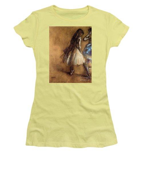 Two Dancers Women's T-Shirt (Junior Cut) by Degas