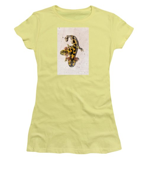 Two-headed Near Eastern Fire Salamande Women's T-Shirt (Junior Cut)
