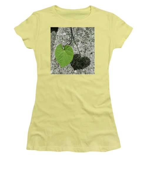 Women's T-Shirt (Junior Cut) featuring the photograph Two Hearts Entwined by Bruce Carpenter