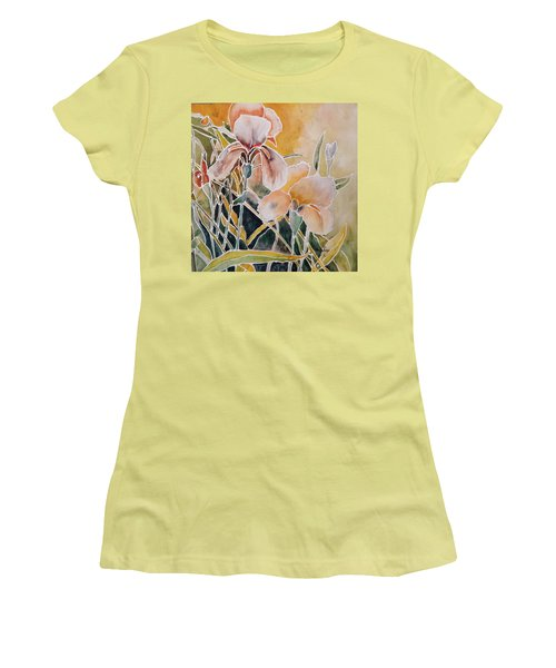 Two Irises Women's T-Shirt (Athletic Fit)