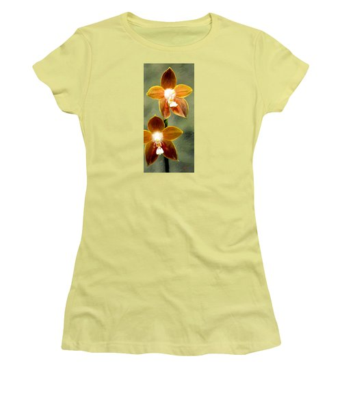 Women's T-Shirt (Junior Cut) featuring the painting Two Of Us by James Shepherd