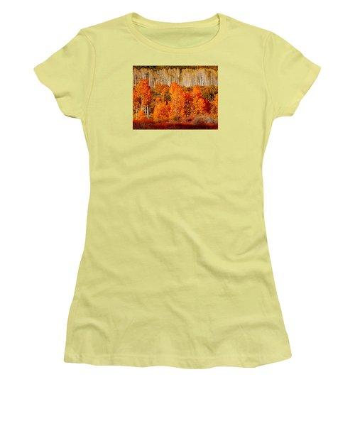 Two Rows Of Aspen Women's T-Shirt (Junior Cut) by Marcia Socolik