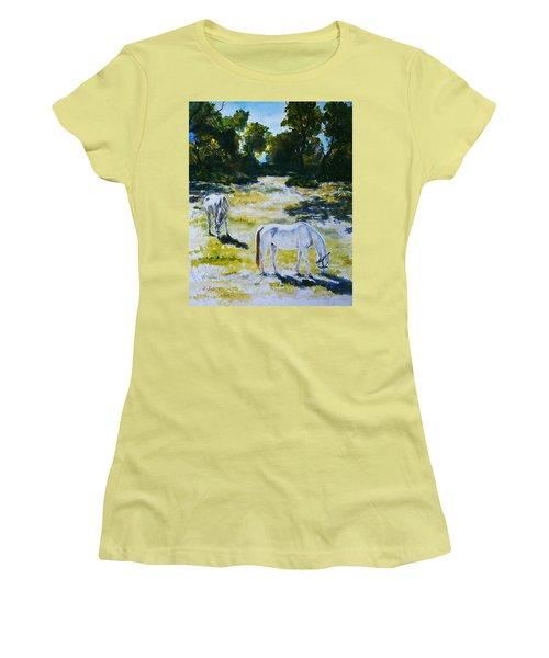 Sunlit Women's T-Shirt (Junior Cut) by Hartmut Jager