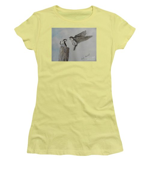 Two Swallows Women's T-Shirt (Athletic Fit)