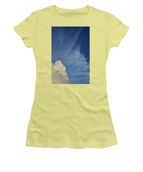 Two Tone Clouds 9384 Women's T-Shirt (Athletic Fit)