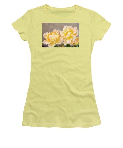 Two Yellow Sherberts Women's T-Shirt (Junior Cut) by Joan Bertucci