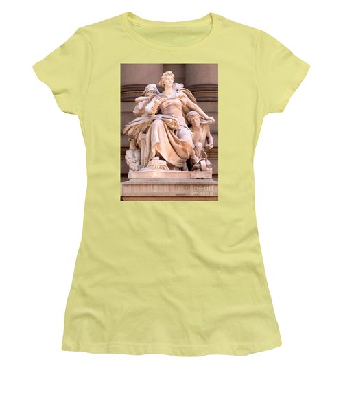 U S Custom House 4 Women's T-Shirt (Junior Cut) by Randall Weidner