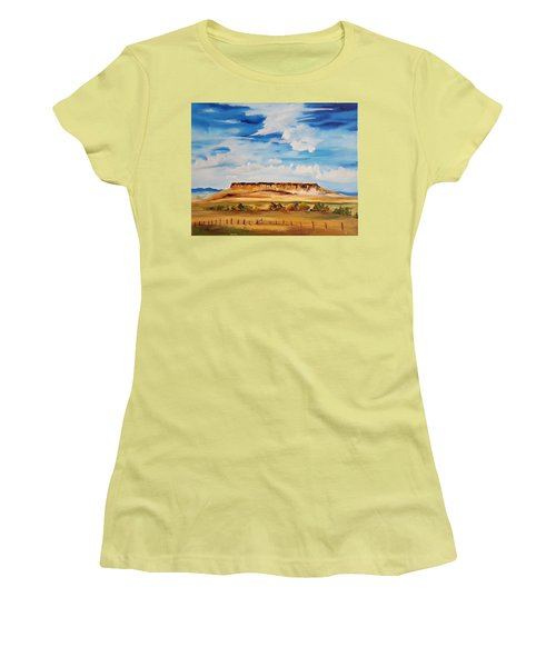 Ulm Montana First People's Buffalo Jump   93 Women's T-Shirt (Athletic Fit)
