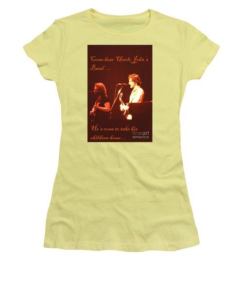 Women's T-Shirt (Junior Cut) featuring the photograph Come Hear Uncle John's Band by Susan Carella