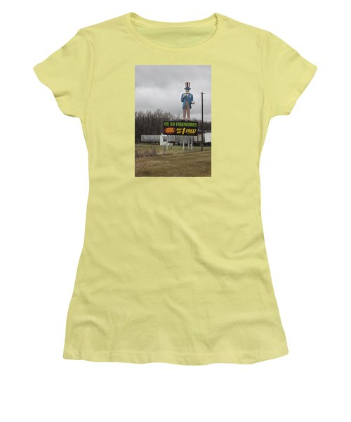 Uncle Sams Fireworks Women's T-Shirt (Junior Cut) by Suzanne Gaff