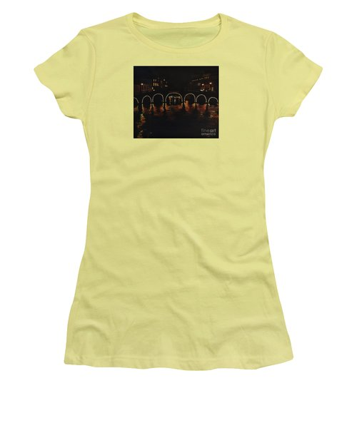 Under A Lighted Bridge In Amsterdam Women's T-Shirt (Athletic Fit)