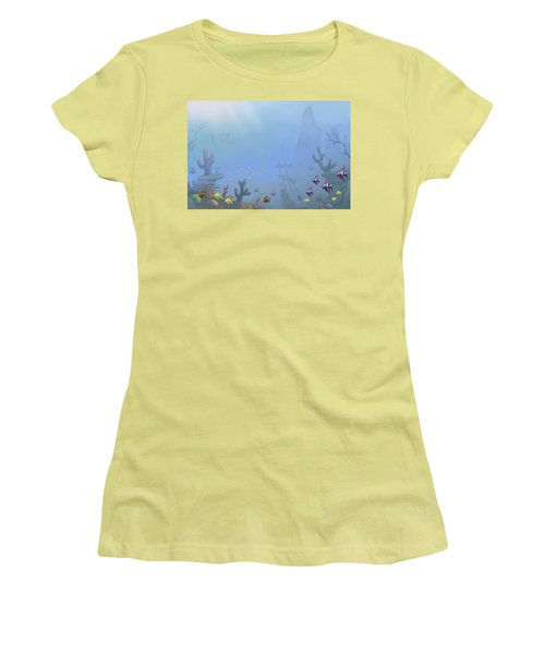 Under Sea 01 Women's T-Shirt (Athletic Fit)