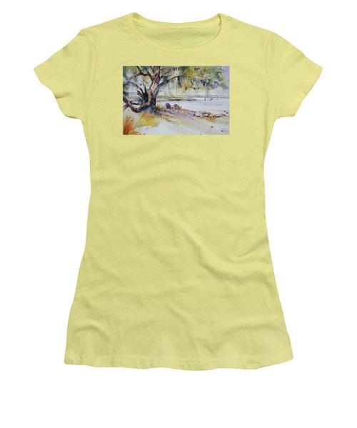 Under The Live Oak Women's T-Shirt (Junior Cut) by P Anthony Visco