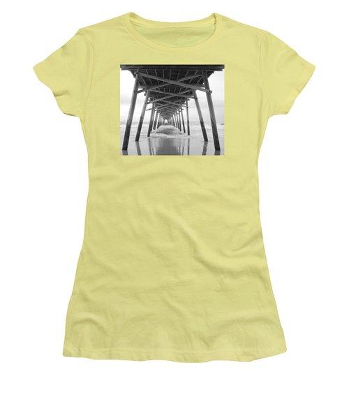 Under The Pier Women's T-Shirt (Junior Cut) by Betty Buller Whitehead
