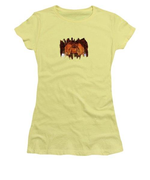 Women's T-Shirt (Junior Cut) featuring the photograph Under The Siuslaw River Bridge by Thom Zehrfeld