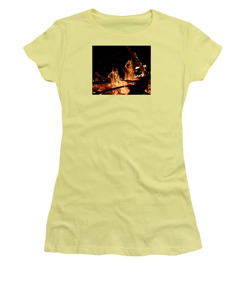 Under The Sparks Women's T-Shirt (Junior Cut) by Janet Rockburn