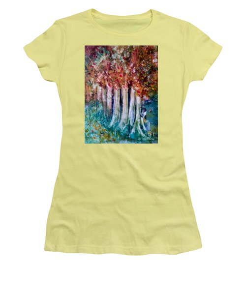 Under The Trees Women's T-Shirt (Athletic Fit)