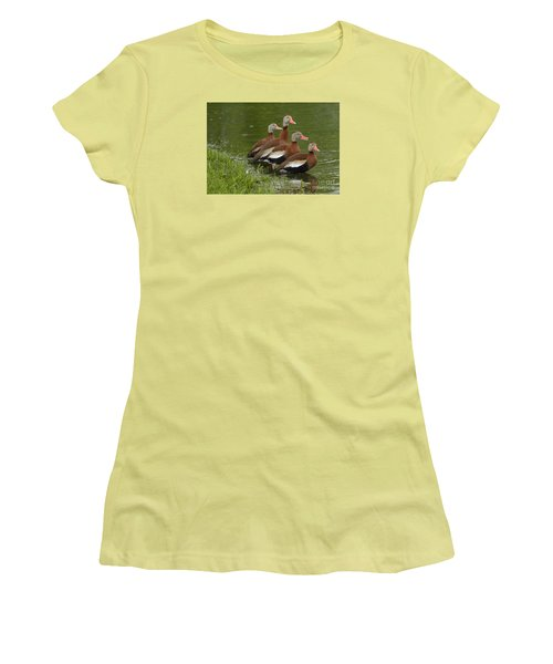 Women's T-Shirt (Junior Cut) featuring the photograph Unexpected Visitors by Randy Bodkins