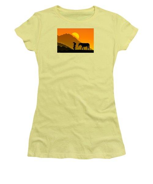 Women's T-Shirt (Junior Cut) featuring the digital art Unforgiven by Bernd Hau