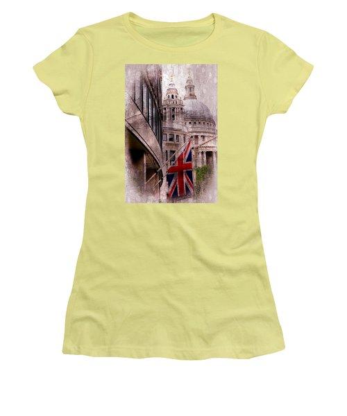 Union Jack By St. Paul's Cathdedral Women's T-Shirt (Junior Cut) by Karen McKenzie McAdoo